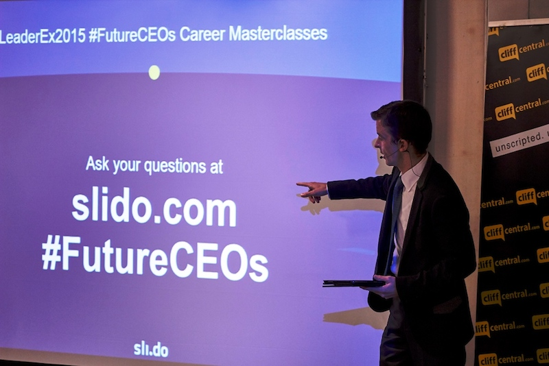 Future CEOs LeaderEx Career Development CliffCentral Gareth Armstrong Hlubi Mboya intro slido