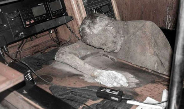 Mummified captain found on ghost ship