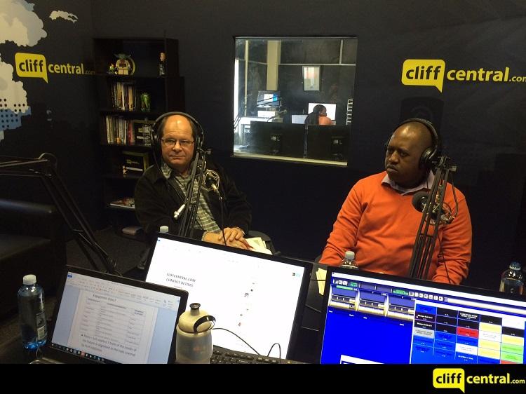 Ellis Mnyandu and Professor Theo Veldsman CliffCentral Studios