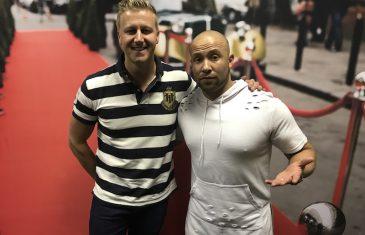 Gareth with Clint Brink